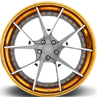 "21inch Rims Polish Customized  2-PC Forged Alloy Rims For Maserati / Rim 20"" Forged Wheels"