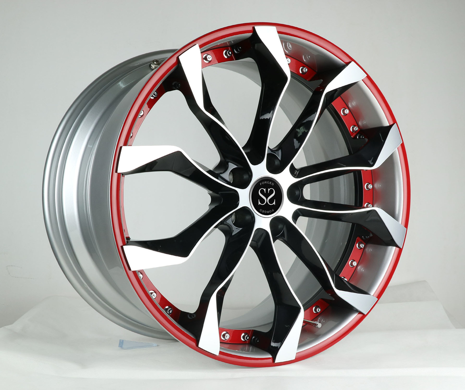 18 19 20 21 22inch red machined face 2-piece forged wheel for X5 X6 5x120