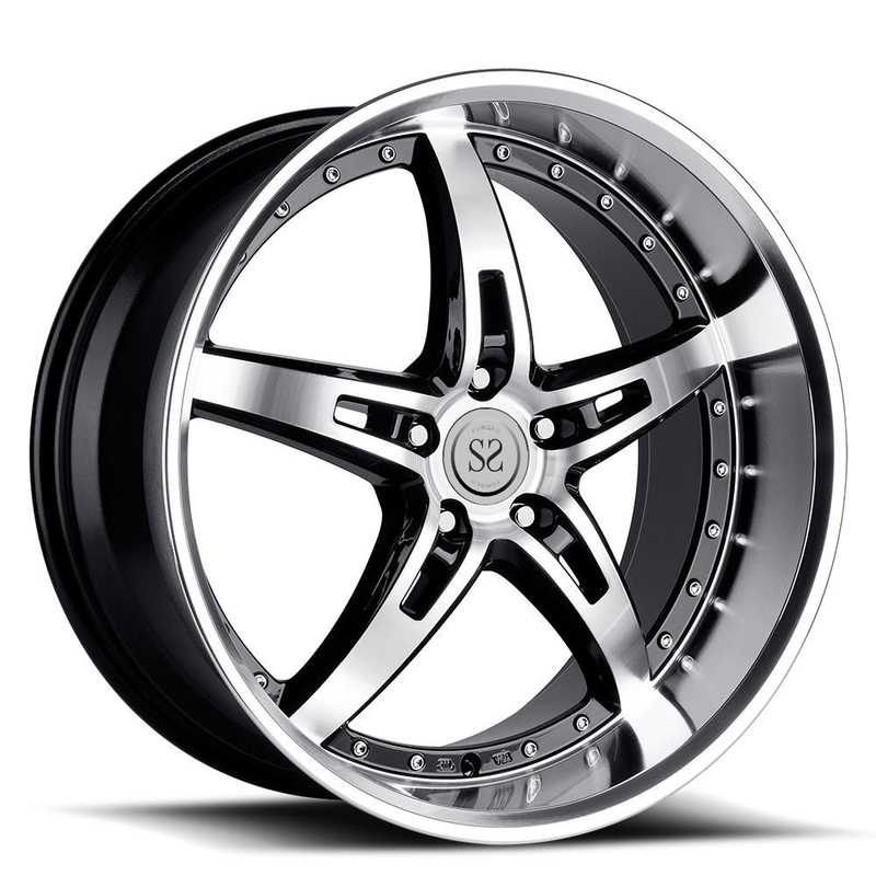 22 inch deep lip 4*4 customized 2 piece forged aluminum alloy whee rims