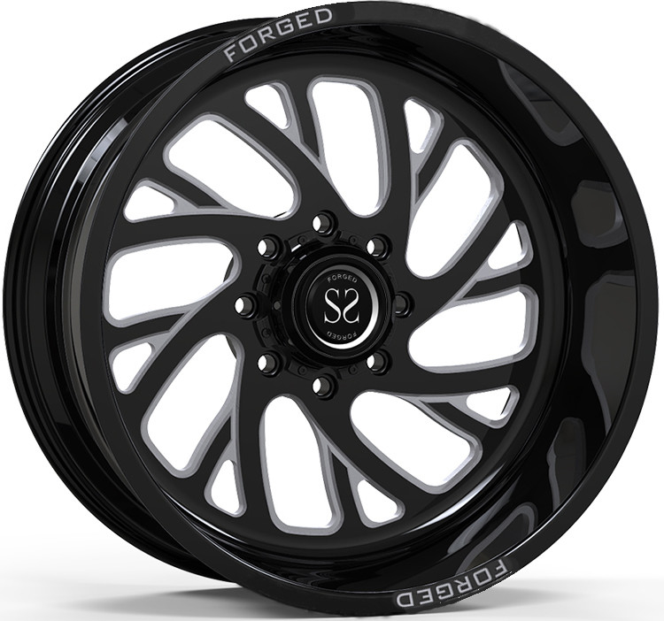 Gloss Black Machined Customized 4x4 Wheels/ 20X12 ET -44 4x4 Off Road Rims