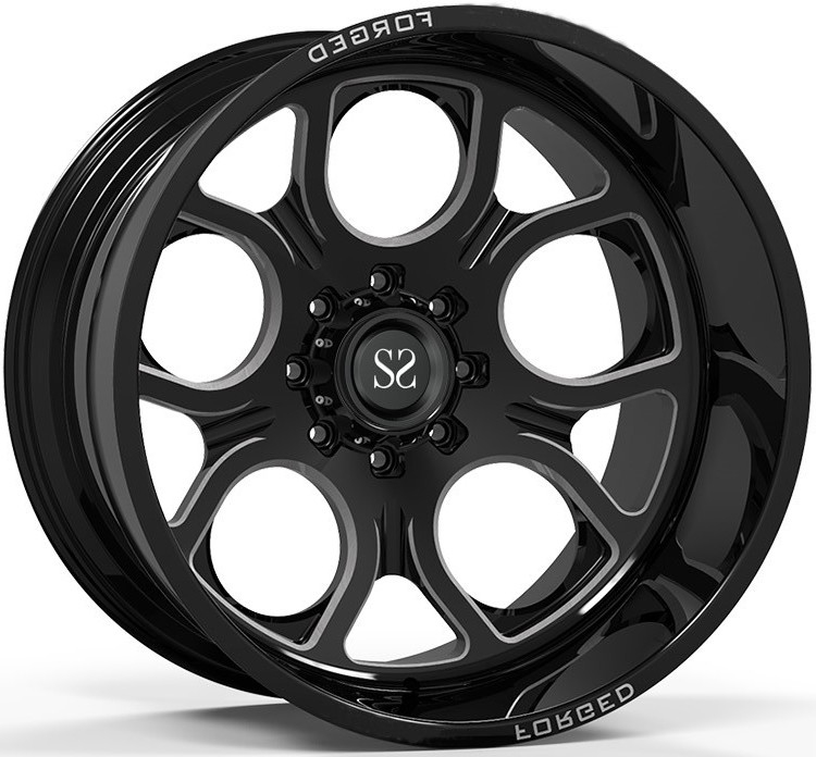 Off Road  4x4 Wheels 20x10 20x12 20x14 24x12 and 24x14 Gloss Black Deep Dish Rims